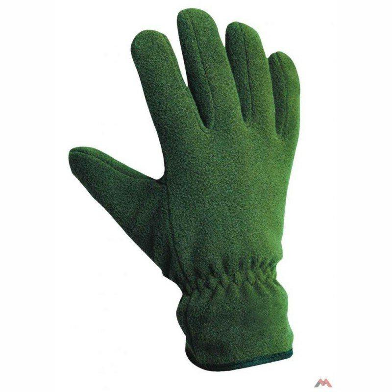 MYNAH téli polár kesztyű zöld színben