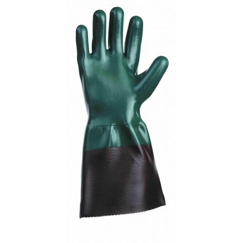 UNIVERSAL kesztyű mandzsettával zöld 11cm 10,5
