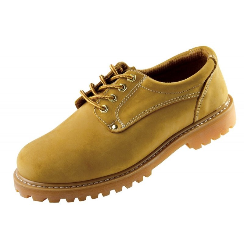 Bőrcipő gumitalpú - HONEY farmer munkacipő  bézs