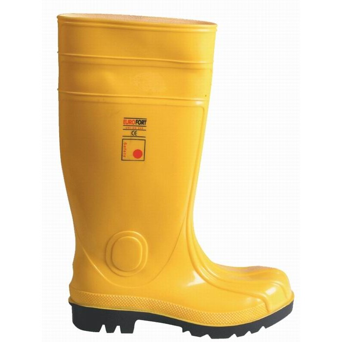 Acélbetétes munkavédelmi védőcsizma PVC Csizma sárga
