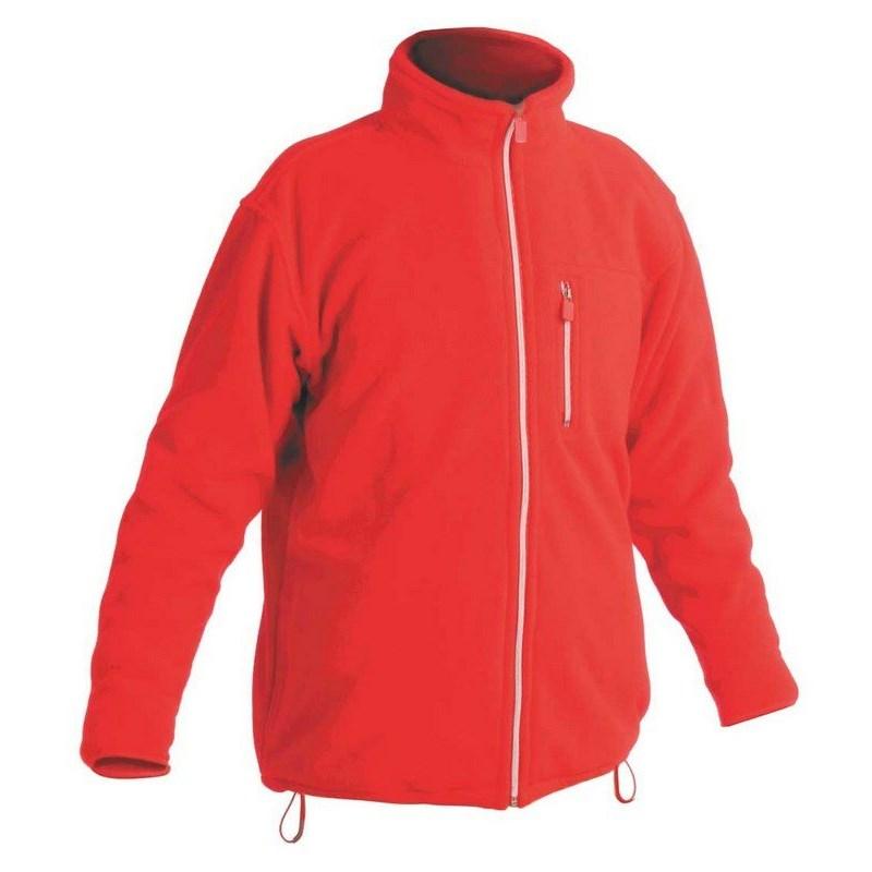 KARELA FLEECE polár pulóver piros