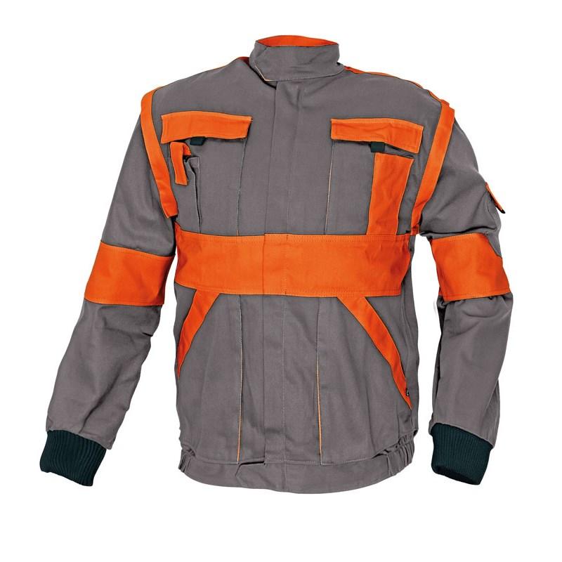 MAX kabát 260 g/m2 szürke / narancs