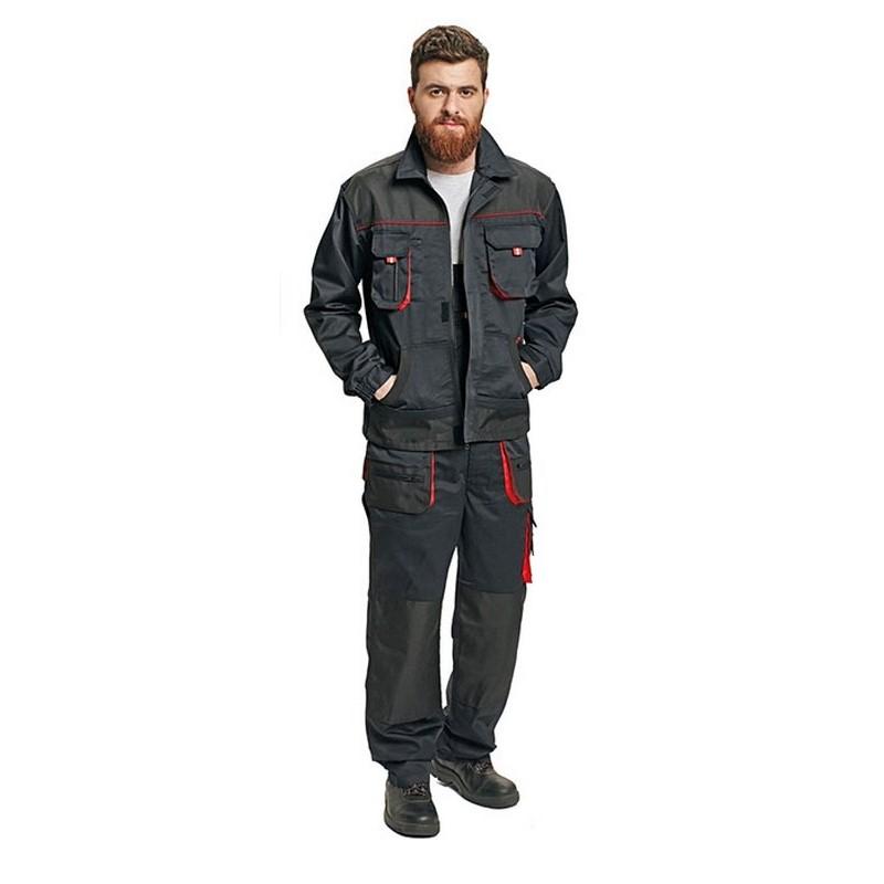 Fridrich munkaruha kabát fekete/piros