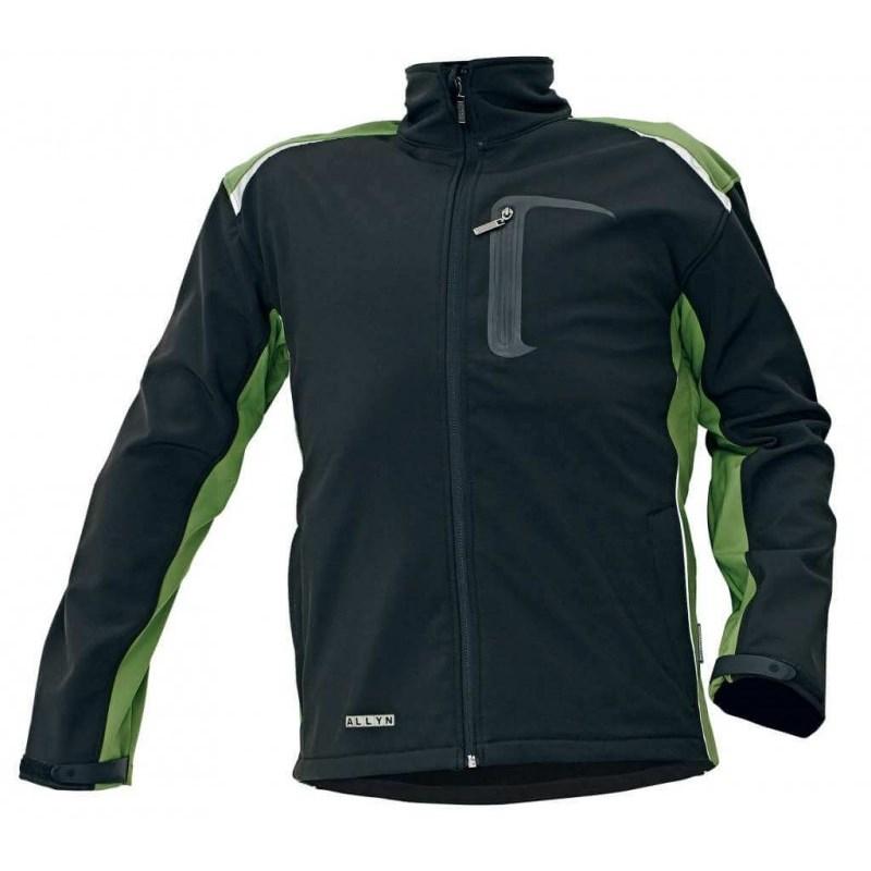 ALLYN NEW SOFTSHELL kabát zöld