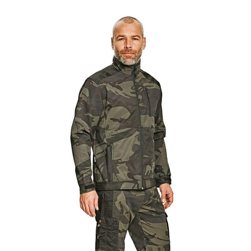 CRAMBE SOFTSHELL kabát terepszínű