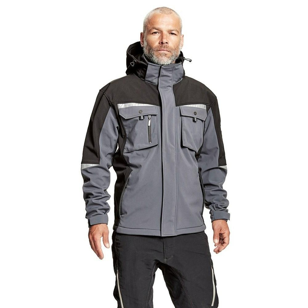 ALLYN soft. kabát+csuklya szürke/fekete