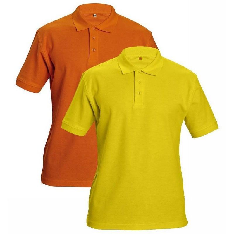 DHANU piké póló sárga