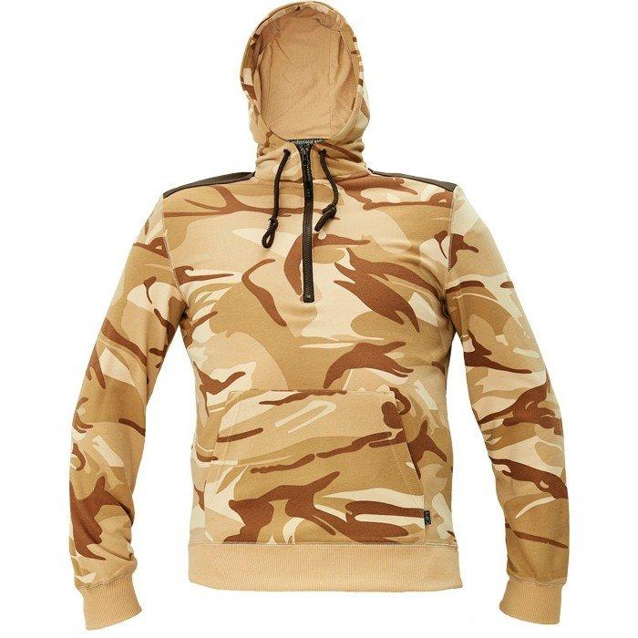 Munkaruha kapucnis pulóver terepmintás CRAMBE M