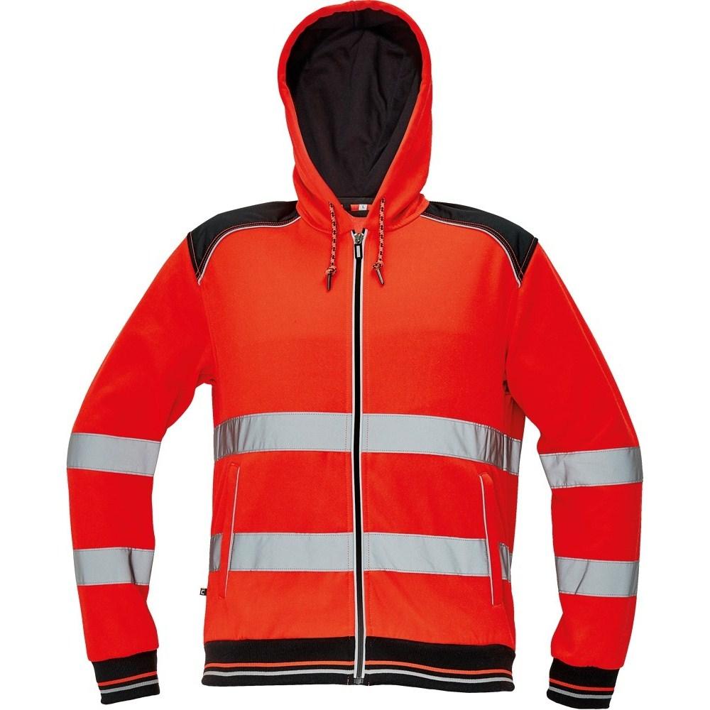KNOXFIELD HV kapucnis pulóver piros
