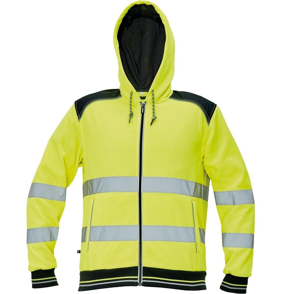 KNOXFIELD HV kapucnis pulóver sárga