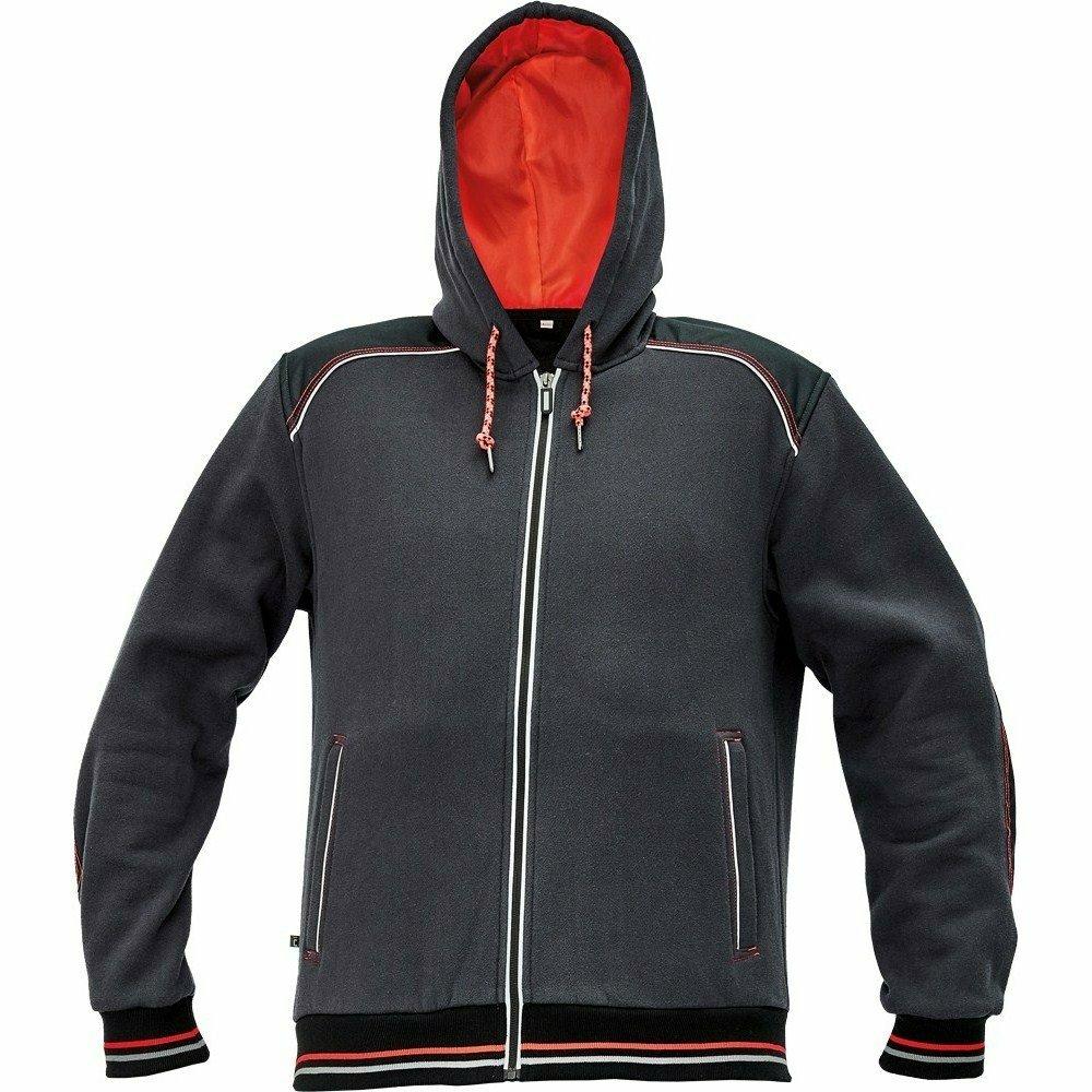 KNOXFIELD kapucnis pulóver antracit/piros