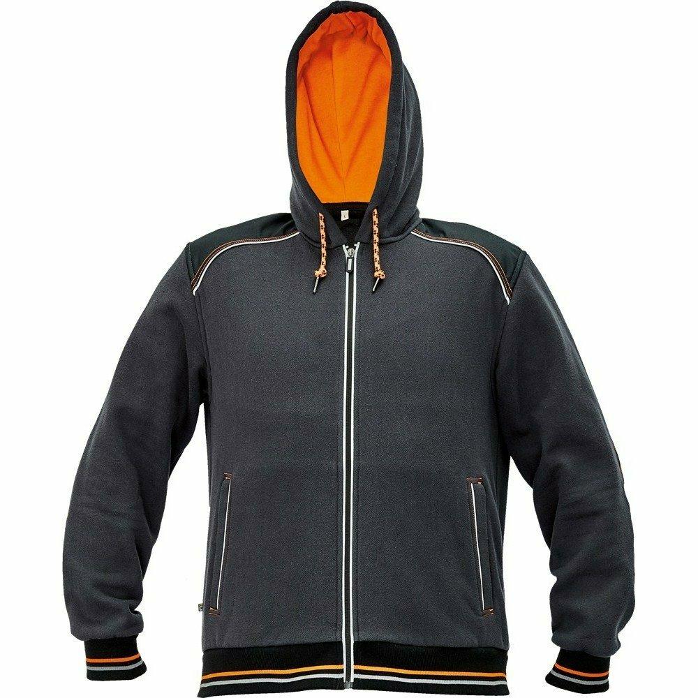 KNOXFIELD kapucnis pulóver antracit/narancssárga