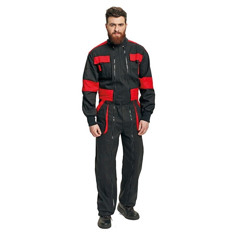 MAXPEED overall fekete/piros