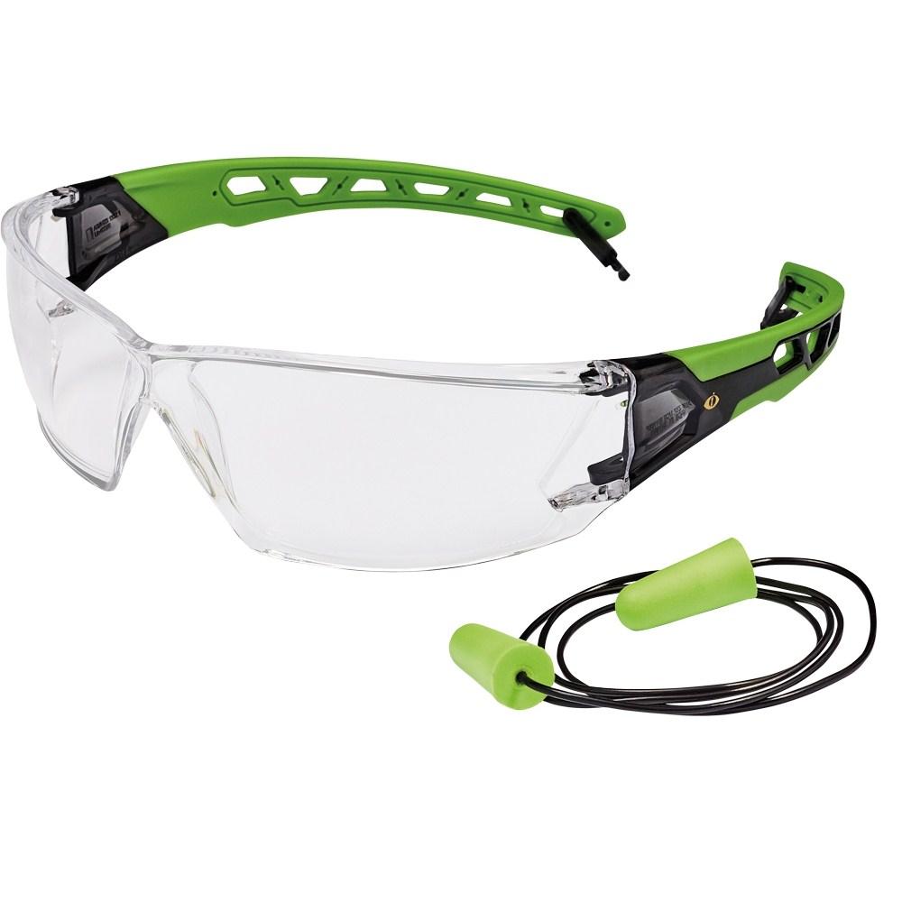 BARROU IS védőszemüveg+ED víztiszta -