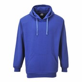 Róma kapucnis pulóver royal kék