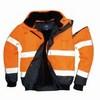Jól láthatósági bomber dzseki fekete/Narancs