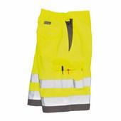 Jól láthatósági rövidnadrág sárga / szürke