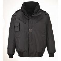 3 az 1-ben bomber kabát fekete