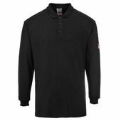 Lángálló teniszpóló fekete