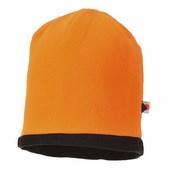 Kifordítható HiVis sapka fekete/Narancs