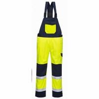 Hi Vis MODAFLAME kantáros nadrág  sárga/Kék