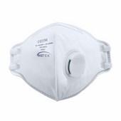 FFP3 szelepes, félbehajtható légzésvédő maszk (20 db) fehér