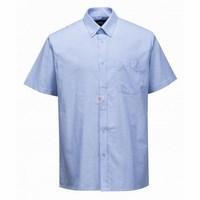 Easycare Oxford rövid ujjú ing kék