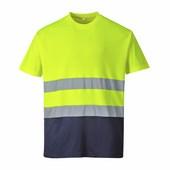 Hi-Vis kontraszt pólóing  sárga/Kék