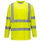 Hi-Vis hosszú ujjú póló sárga
