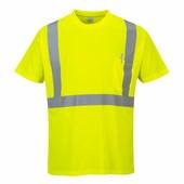 HiVis póló zsebbel sárga