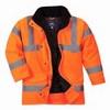 Jól láthatósági női kabát narancs