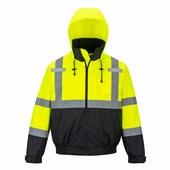HiVis Prémium 2 az 1-ben bomber kabát sárga / fekete