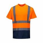 Kéttónusú pólóing narancs / tengerész