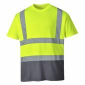 Kéttónusú pólóing sárga / szürke