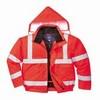Jól láthatósági bomber dzseki piros