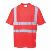 Jól láthatósági póló piros