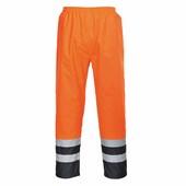 Jól láthatósági kéttónusú nadrág narancs