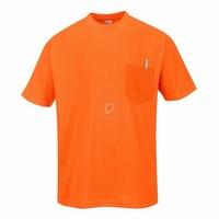 Day-Vis rövid ujjú zsebes póló narancs