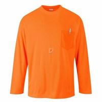 Day-Vis hosszú ujjú zsebes póló narancs