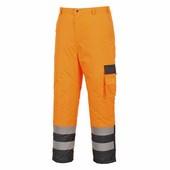 Hi-Vis Contrast nadrág - bélelt narancs / tengerész