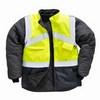 Jól láthatósági kifordítható dzseki sárga / tengerészkék