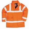 Antisztatikus és lángálló kabát narancs