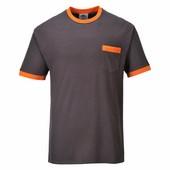Texsew Contrast póló szürke