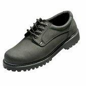 Bőrcipő gumitalpú - HONEY farmer munkacipő fekete