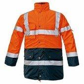 BIROAD HV kabát narancs-kék