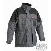 ULTIMO Meleg vízálló kabát, PE anyagból, kapucnis, bélelt szürke