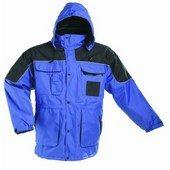ULTIMO Meleg vízálló kabát, PE anyagból, kapucnis, bélelt kék