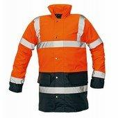 SEFTON kabát HV narancs/sötétkék