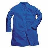 Férfi élelmiszeripari köpeny, 1 zsebbel royal kék