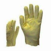 Olaj- és víztaszító, erős sárga színmarhabőr kesztyű